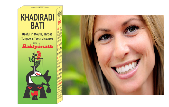 Khadiradi Bati for healthy teeth